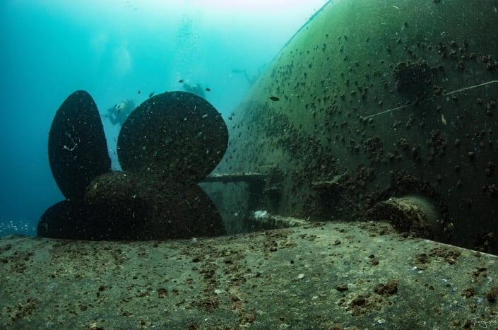 ex HMAS Tobruk Prop - An absolutely amazing shipwreck dive experience
